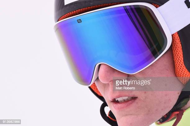 Kristjan Ilves of Estonia looks on after his jump in the Individual Gundersen LH/10km during day two of the FIS Nordic Combined World Cup Hakuba on...