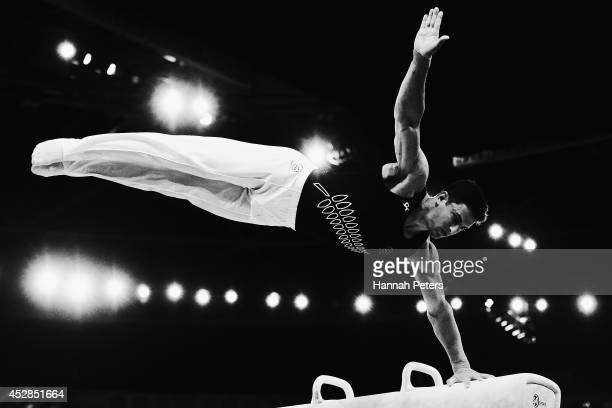 Kristofer Done of New Zealand competes in the Men's Team Final Individual Qualification at SECC Precinct during day five of the Glasgow 2014...