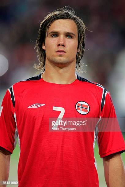 Kristofer Haestad of Norway before the World Cup 2006 playoff match between Norway and The Czech Republic at the Ullevaal stadium on November 12 2005...