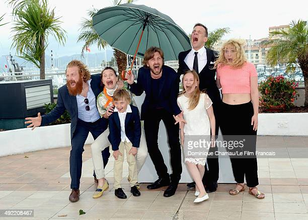 Kristofer Hivju actress Lisa Loven Kongsli Clara Wettergren director Ruben Ostlund actors Vincent Wettergren Johannes Bah Kuhnke and guest attend the...