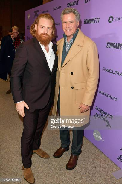 Kristofer Hivju and Will Ferrell attend the 2020 Sundance Film Festival Downhill Premiere at Eccles Center Theatre on January 26 2020 in Park City...