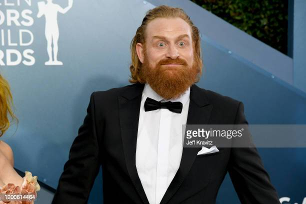 Kristofer Hivju attends the 26th Annual Screen Actors Guild Awards at The Shrine Auditorium on January 19 2020 in Los Angeles California