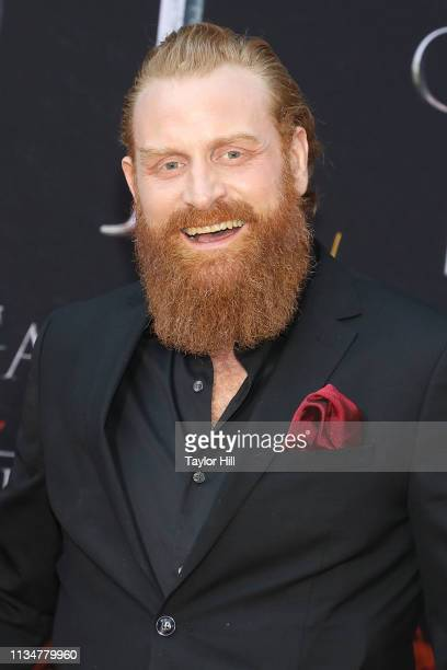 Kristofer Hivju attends the Season 8 premiere of Game of Thrones at Radio City Music Hall on April 3 2019 in New York City