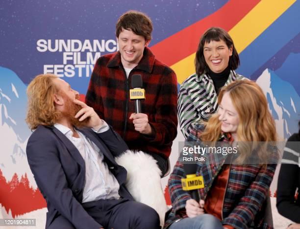 Kristofer Hivju Zach Woods Zoe Chao and Miranda Otto of 'Downhill' attend the IMDb Studio at Acura Festival Village on location at the 2020 Sundance...