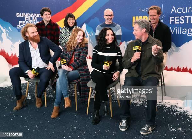 Kristofer Hivju Zach Woods Zoe Chao Miranda Otto Julia LouisDreyfus Jim Rash Will Ferrell and Nat Faxon of 'Downhill' attend the IMDb Studio at Acura...