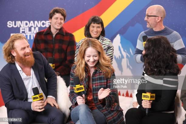 Kristofer Hivju Zach Woods Zoe Chao Miranda Otto Julia LouisDreyfus and Jim Rash of 'Downhill' attend the IMDb Studio at Acura Festival Village on...