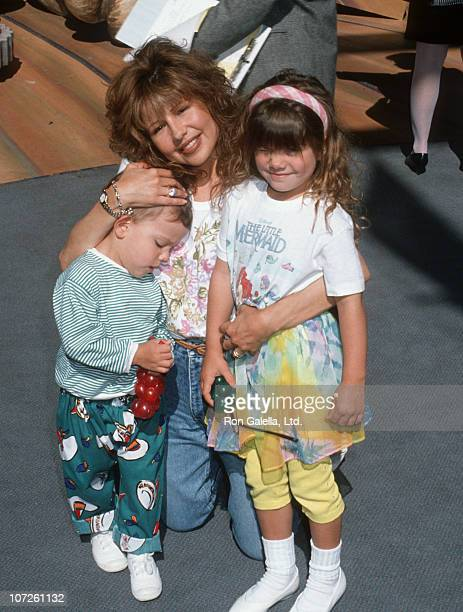 Kristofer Riklis Pia Zadora and Kady Riklis during The American Tail for Jerry's Kids Salute to 25th Anniversary of Universal Studios at Universal...