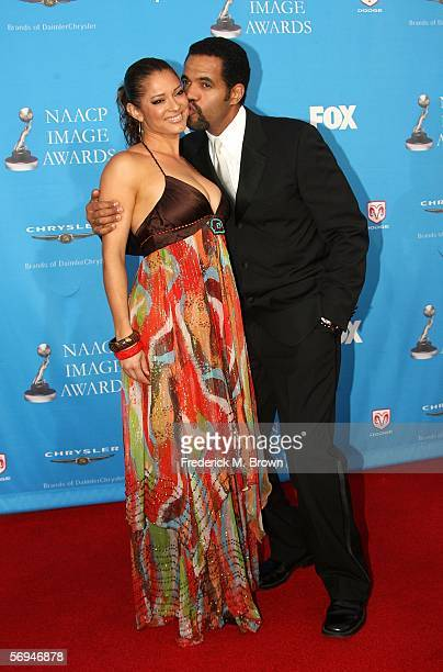 Kristoff St John and Allana Nadal arrive at the 37th Annual NAACP Image Awards at the Shrine Auditorium on February 25 2006 in Los Angeles California