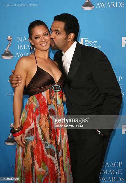 Kristoff St John and Allana Nadal during The 37th Annual NAACP Image Awards Arrivals at Shrine Auditorium in Los Angeles California United States
