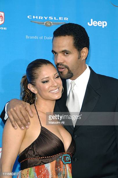 Kristoff St John and Allana Nadal during The 37th Annual NAACP Image Awards Red Carpet at Shrine Auditorium in Los Angeles California United States