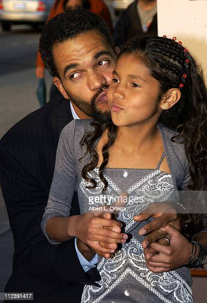Kristoff St John and daughter during The 7th Annual PRISM Awards Arrivals at Henry Fonda Music Box Theater in Hollywood California United States