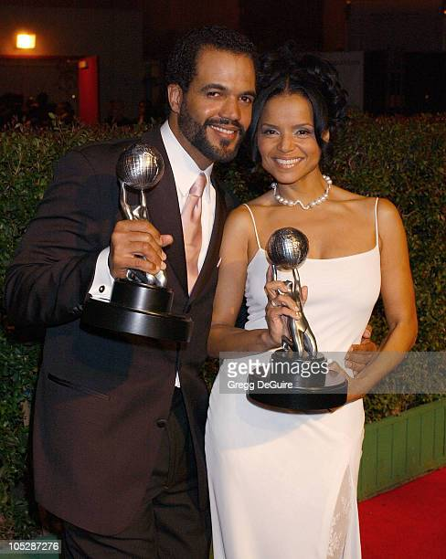 Kristoff St John and Victoria Rowell during 35th NAACP Image Awards Arrivals at Universal Ampitheatre in Universal City California United States