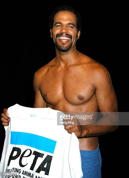 Kristoff St John during Kristoff St John Rather Go Naked Than Wear Fur PETA Shoot at Sebree Studios in Los Angeles California