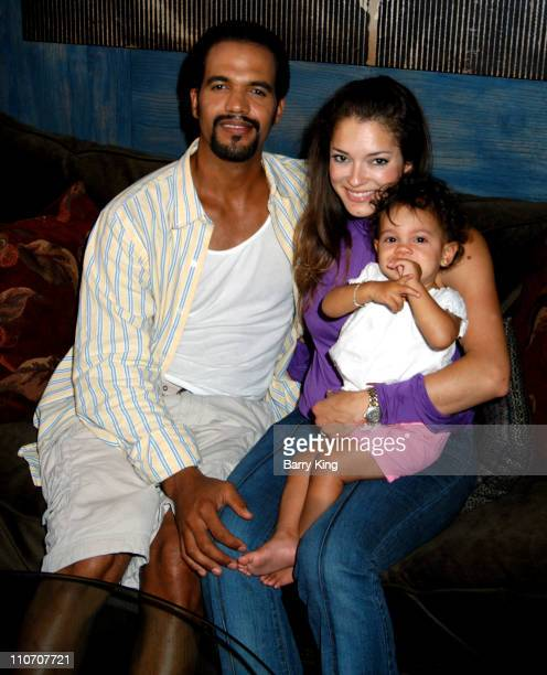 Kristoff St John wife Allana and daughter Lola during Kristoff St John Rather Go Naked Than Wear Fur PETA Shoot at Sebree Studios in Los Angeles...