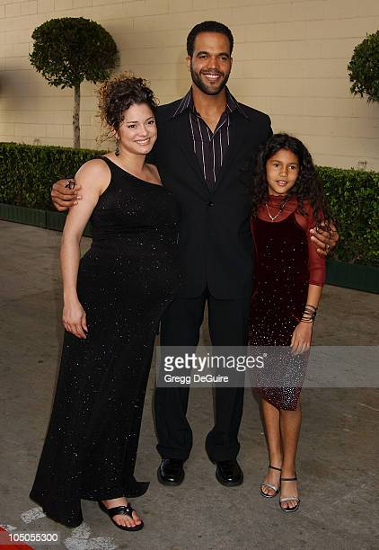 Kristoff St John Wife Allana Daughter Paris during Soapnet Presents The Soap Opera Digest Awards Arrivals at ABC Prospect Studios in Los Angeles...