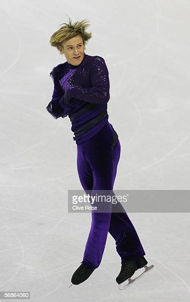 Kristoffer Berntsson of Sweden competes in the Men's Free Skate Program Final during Day 6 of the Turin 2006 Winter Olympic Games on February 16 2006...