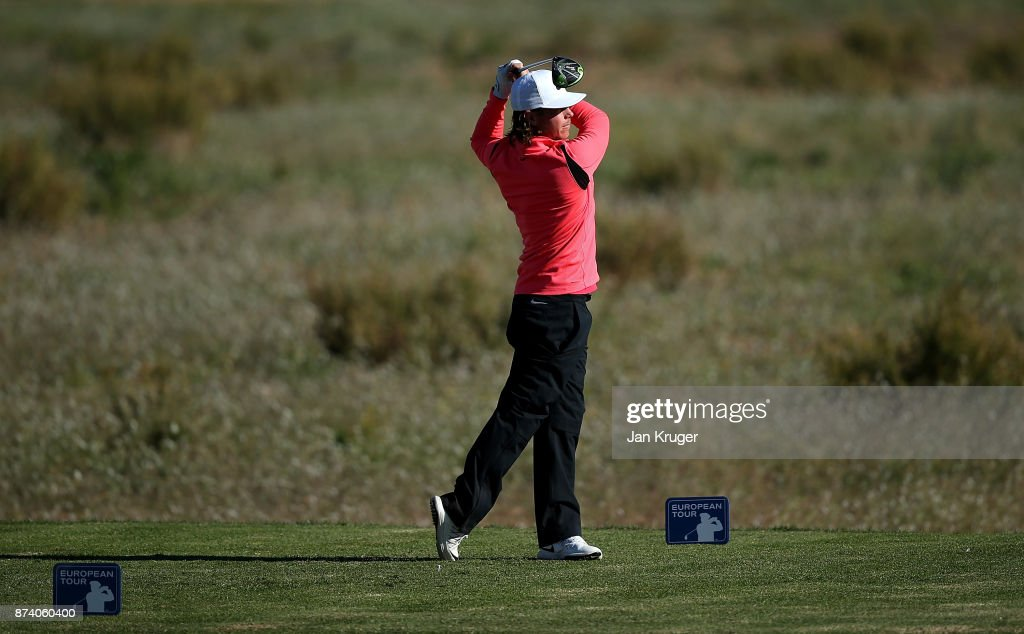 Kristoffer Broberg of Sweden tees off the 6th during round four of the European Tour Qualifying School Final Stage at Lumine Golf Club on November 14, 2017 in Tarragona, Spain.