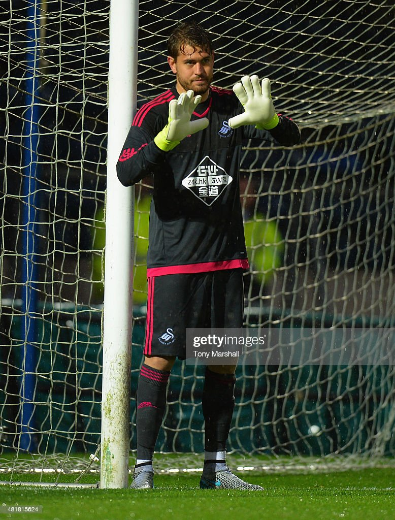 Kristoffer Nordfeldt of Swansea City during the Pre Season Friendly match between Reading and Swansea City at Adams Park on July 24, 2015 in High Wycombe, England.
