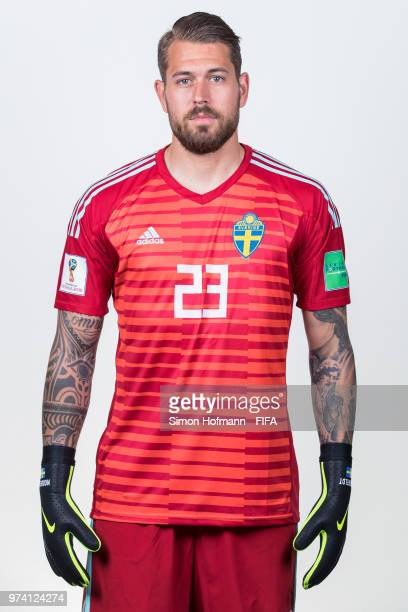 Kristoffer Nordfeldt of Sweden poses during the official FIFA World Cup 2018 portrait session on June 13 2018 in Gelendzhik Russia