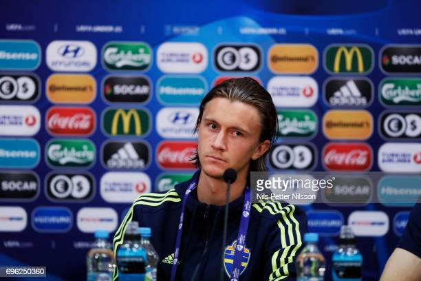 Kristoffer Olsson during the Swedish U21 national team press conference at Arena Kielce on June 15 2017 in Kielce Poland