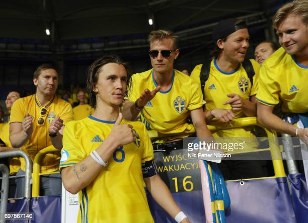 Kristoffer Olsson of Sweden after the UEFA U21 match between Poland and Sweden at Arena Lublin on June 19 2017 in Lublin Poland
