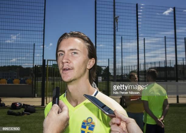 Kristoffer Olsson of Sweden during the Swedish U21 national team MD1 training at Stadion Miejski on June 21 2017 in Swidnik Poland