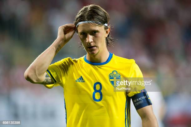 Kristoffer Olsson of Sweden during the UEFA European Under21 Championship 2017 Group A match between Poland and Sweden at Lublin Stadium in Lublin...