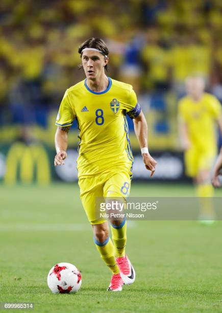 Kristoffer Olsson of Sweden during the UEFA European Under21 match between Slovakia and Sweden at Arena Lublin on June 22 2017 in Lublin Poland