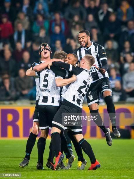 Kristoffer Peterson of Heracles Almelo Bart van Hintum of Heracles Almelo Lerin Duarte of Heracles Almelo Joey Konings of Heracles Almelo Brandley...