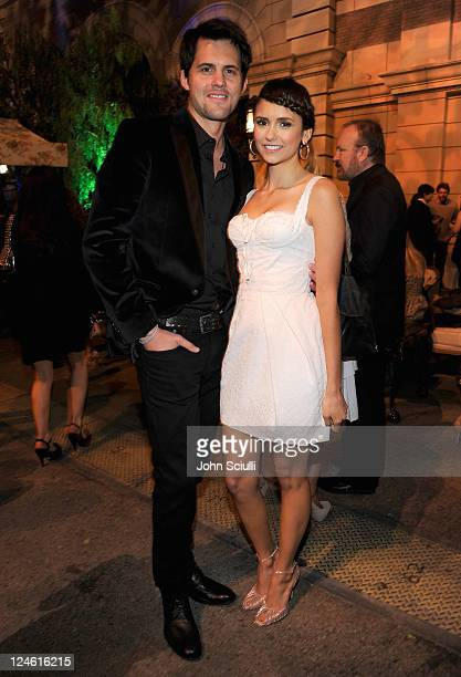 Kristoffer Polaha and Nina Dobrev attend the CW launch party presented by Bing at Warner Bros Studios on September 10 2011 in Burbank California