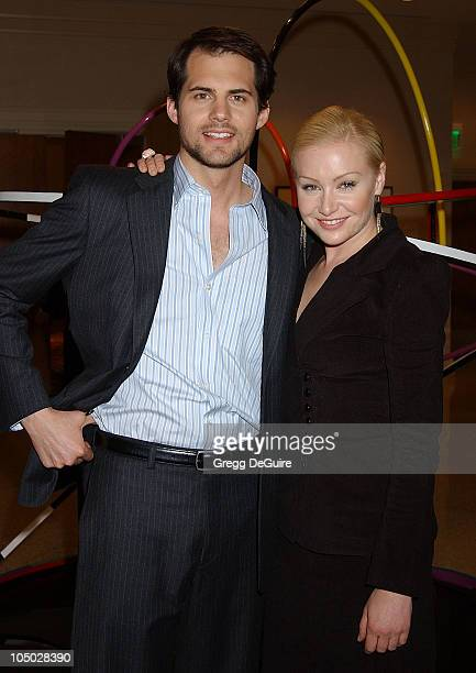 Kristoffer Polaha and Portia de Rossi during The 2003 National Cable Telecommunications Assn Press Tour Day One at Renaissance Hotel in Hollywood...