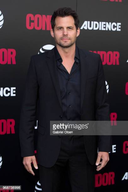 Kristoffer Polaha arrives for the premiere of ATT Audience Network's Condor at NeueHouse Hollywood on June 6 2018 in Los Angeles California