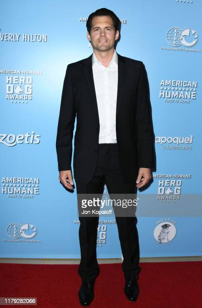 Kristoffer Polaha attends the 9th Annual American Humane Hero Dog Awards at The Beverly Hilton Hotel on October 05 2019 in Beverly Hills California