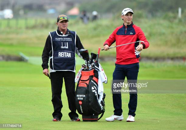 Kristoffer Reitan of Norway plays their second shot on the 18th hole during Day two of the Alfred Dunhill Links Championship at Carnoustie Golf Links...