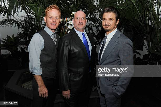 Kristoffer Winters BIll Curtis and actor Jeremy Renner celebrate the launch of Robb Report Home Style on June 6 2013 in Los Angeles California