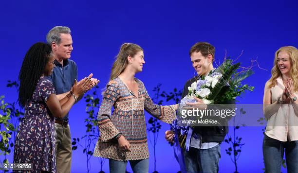 Kristolyn Lloyd Michael Park Laura Dreyfuss Rachel Bay Jones with Taylor Trench takes his bows as the newest Evan in 'Dear Evan Hansen' on Broadway...