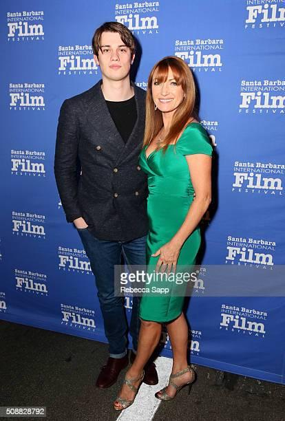 Kristopher Steven Keach and Actress Jane Seymour attend the Virtuosos Award at the Arlington Theater at the 31th Santa Barbara International Film...