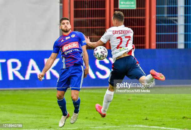 Kristopher Vida of Piast in action during the PKO Ekstraklasa match between Gornika Zabrze and Piast Gliwice at Ernest Pohl Stadium on June 9, 2020...