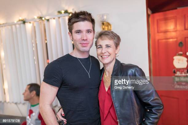 Kristos Andrews and Anne Schoettle attend The Bay Ugly Sweater And Secret Santa Christmas Party at Private Residence on December 12 2017 in Los...