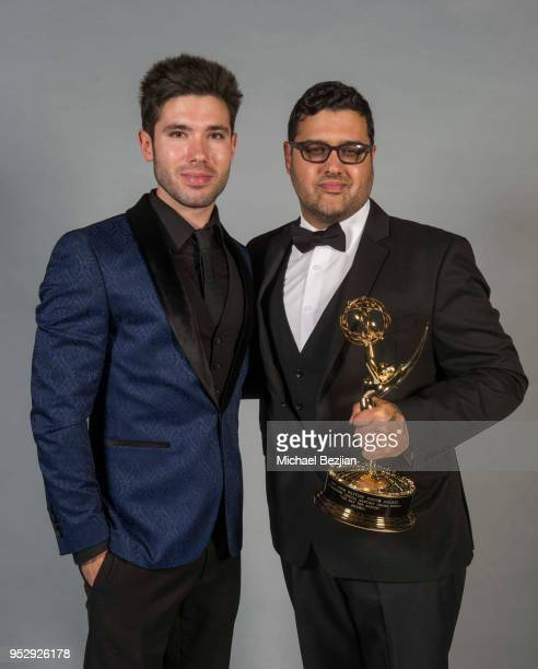 Kristos Andrews and Gregori J Martin pose for portrait at 45th Daytime Emmy Awards Portraits by The Artists Project Sponsored by the Visual Snow...