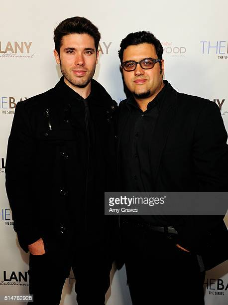 Kristos Andrews and Gregori Martin attend the 5th Annual LANY Entertainment Mixer at St Felix on March 10 2016 in Hollywood California