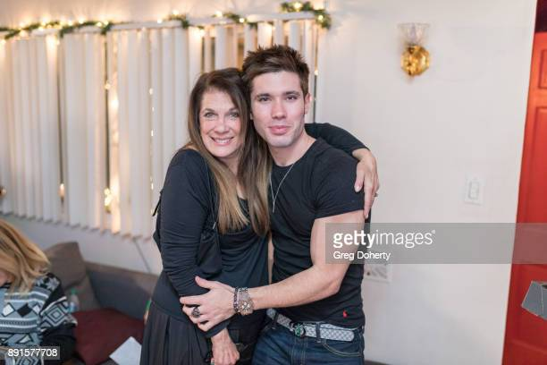 Kristos Andrews and Wendy Riche attend The Bay Ugly Sweater And Secret Santa Christmas Party at Private Residence on December 12 2017 in Los Angeles...