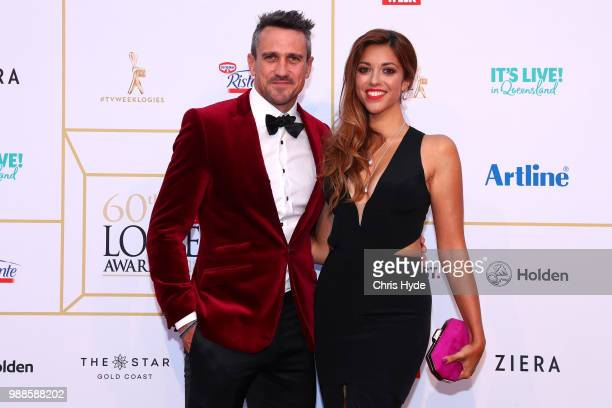 Kristy Best and Lee Carseldine arrive at the 60th Annual Logie Awards at The Star Gold Coast on July 1 2018 in Gold Coast Australia