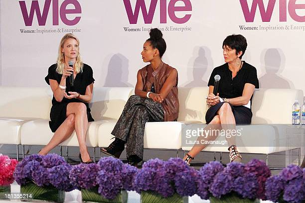 Kristy Caylor Esperanza Spalding and Ghislaine Maxwell attend day 1 of the 4th Annual WIE Symposium at Center 548 on September 20 2013 in New York...