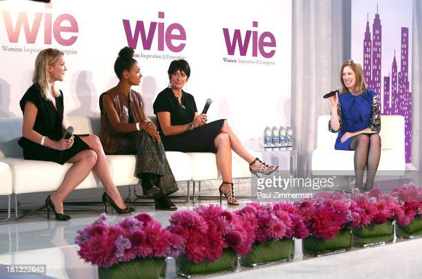 Kristy Caylor Esperanza Spalding Ghislaine Maxwell and Lisa Stone attend the 4th Annual WIE Symposium at Center 548 on September 20 2013 in New York...