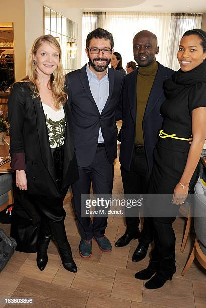 Kristy Caylor Founder President of Maiyet Paul van Zyl Founder CEO of Maiyet architect David Adjaye and Ashley Shaw Scott attend a private lunch to...