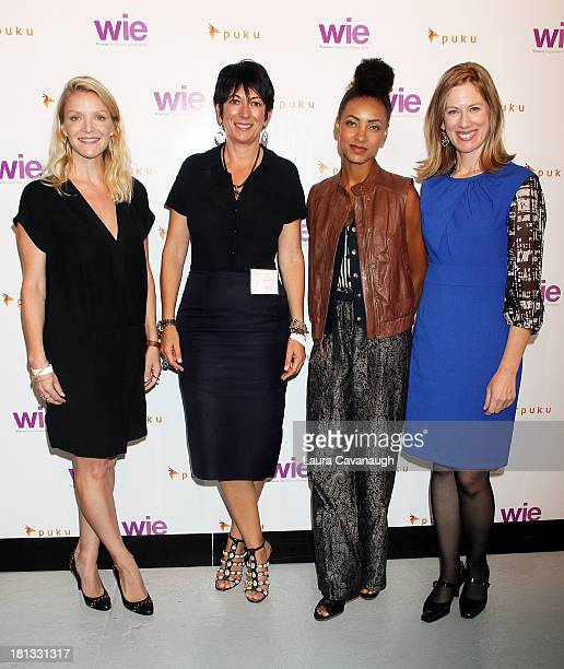 Kristy Caylor Ghislaine Maxwell Esperanza Spalding and Lisa Stone attend day 1 of the 4th Annual WIE Symposium at Center 548 on September 20 2013 in...