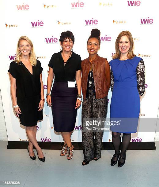 Kristy Caylor Ghislaine Maxwell Esperanza Spalding and Lisa Stone attend the 4th Annual WIE Symposium at Center 548 on September 20 2013 in New York...