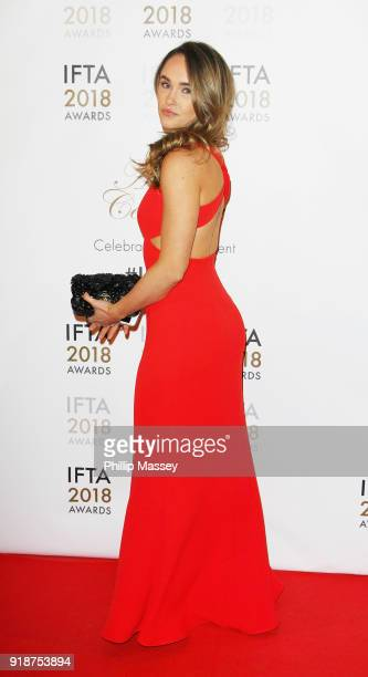 Kristy Dawn Dinsmore attends the 'IFTA Film Drama Awards' at Mansion House on February 15 2018 in Dublin Ireland