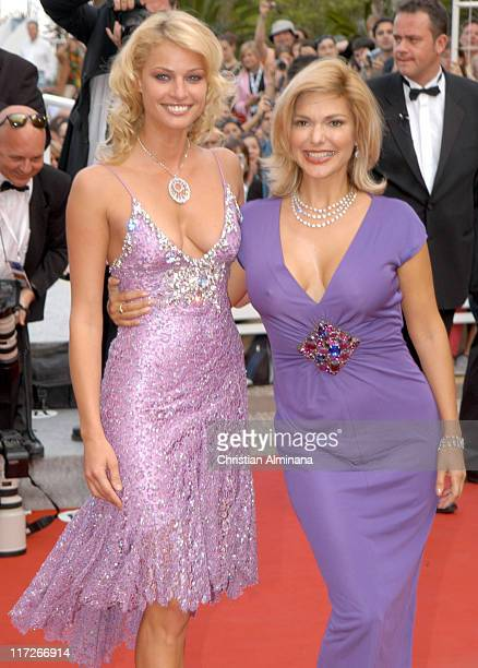Kristy Hinze and Laura Harring during 2005 Cannes Film Festival Where the Truth Lies Premiere at Palais des Festival in Cannes France